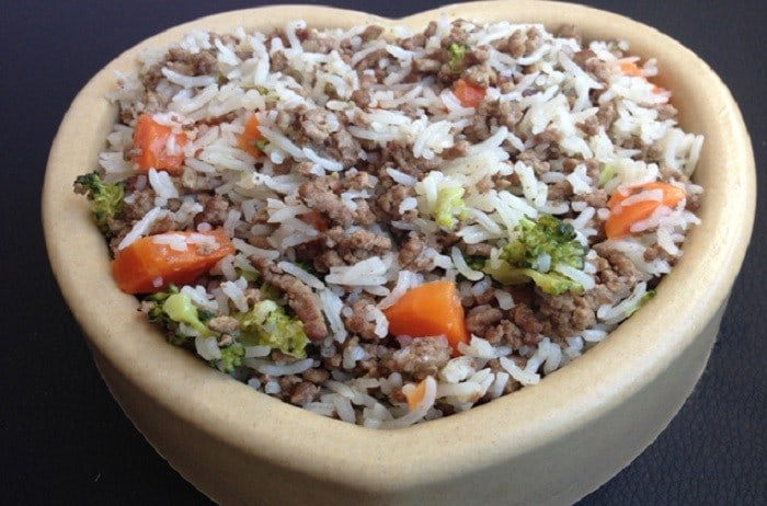 Beef and Fish Rice For Dogs