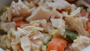 Rice, Chicken, and Veggie Food for Dogs