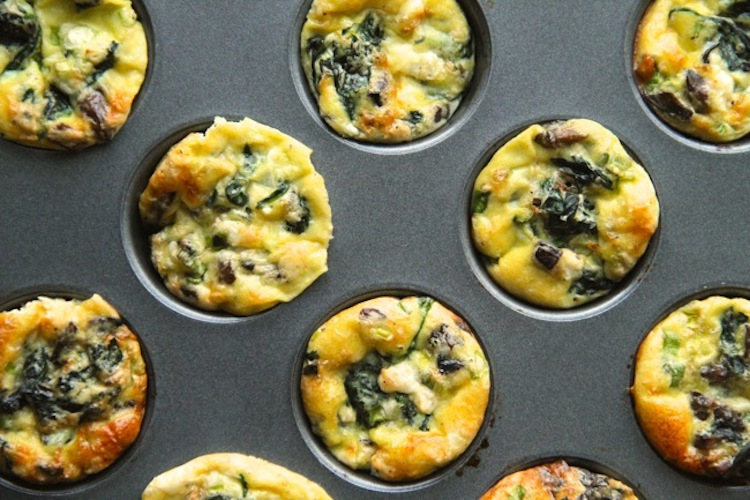 Spinach and Feta Mini Frittatas for Dogs